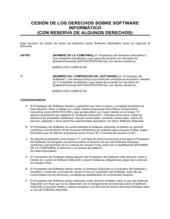 Cesión de derechos en software informático con reserva