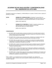 Acuerdo de confidencialidad de diseño de sitio web