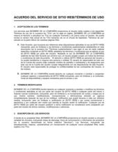 Acuerdo de servicio del sitio web condiciones de uso