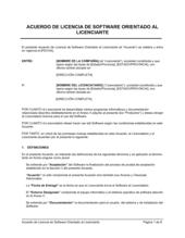 Acuerdo de licencia de software orientado al licenciante