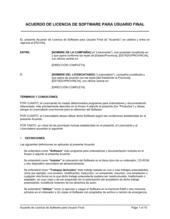 Acuerdo de licencia de software para usuario final