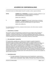 Acuerdo de confidencialidad para consultoría, contratistas