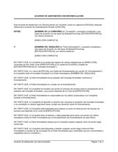 Acuerdo de abstención con cláusula de desvinculación