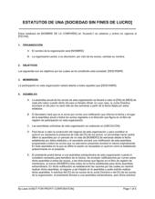 Estatutos para organizaciones sin fines de lucro