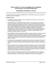 Resolución del directorio con respecto a cuentas bancarias