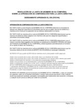 Resolución del directorio para aprobar la remuneración del directorio