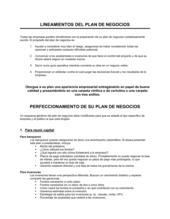 Guías de planificación comercial