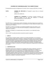 Acuerdo de confidencialidad y no competitividad