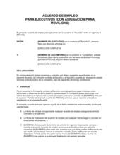 Acuerdo laboral para ejecutivo 2