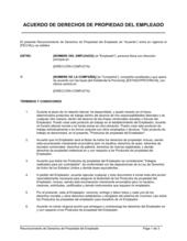 Reconocimiento de derechos patrimoniales del empleado