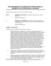 Reconocimiento de los derechos patrimoniales del empleado al momento de extinción del acuerdo