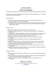 Lista de ítems a tener en cuenta disciplina progresiva