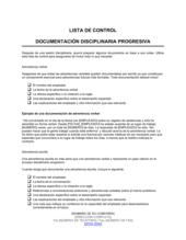 Lista de ítems a tener en cuenta documentación de disciplina progresiva