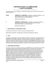 Contrato para la fabricación y venta de bienes