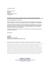 Carta espontánea de buenas relaciones con el cliente
