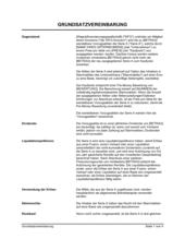 Grundsatzvereinbarung