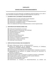 Checkliste - Grundlagen des Risikomanagements