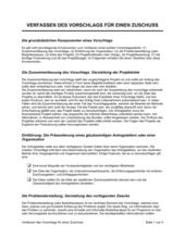 Verfassen des Vorschlags für einen Zuschuss