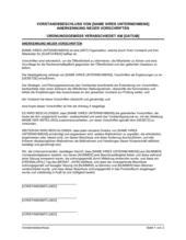 Vorstandsbeschluss Anerkennung neuer Vorschriften