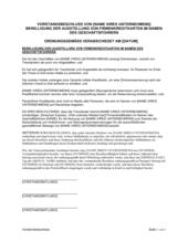 Vorstandsbeschluss Bewilligung der Ausstellung von Firmenkreditkarten im Namen des Geschäftsführers