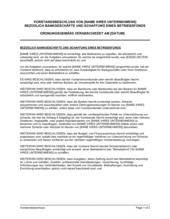 Vorstandsbeschluss bezüglich Bankgeschäfte und der Schaffung eines Betriebsfonds
