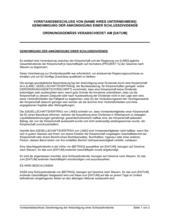 Vorstandsbeschluss Genehmigung der Ankündigung einer Schlussdividende