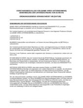 Vorstandsbeschluss Genehmigung der Unterzeichung von Schecks