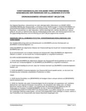 Vorstandsbeschluss Genehmigung der Änderung der allgemeinen Statuten