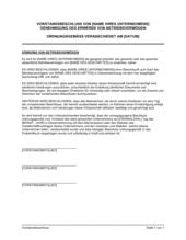 Vorstandsbeschluss Genehmigung des Erwerbs von Betriebsvermögen