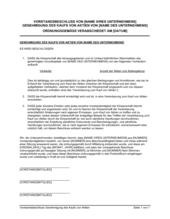 Vorstandsbeschluss Genehmigung des Kaufs von Aktien