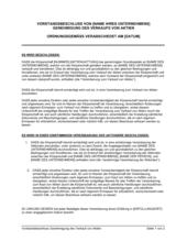 Vorstandsbeschluss Genehmigung des Verkauf von Aktien