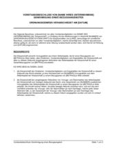 Vorstandsbeschluss Genehmigung eines Bezugsangebot