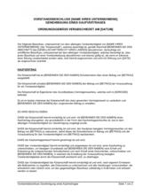 Vorstandsbeschluss Genehmigung eines Kaufvertrages