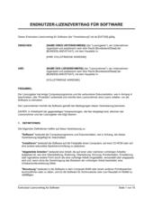 Endnutzer Lizenzvertrag für Software