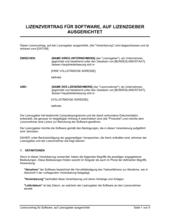 Lizenzvertrag für Software auf Lizenzgeber ausgerichtet