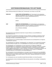 Vertriebsvereinbarung für Software