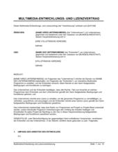 Multimedia-Entwicklung und Lizenzvereinbarung