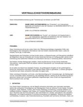 Vereinbarung über vertrauliche Informationen