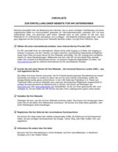 Checkliste zur Erstellung einer Website für Ihr Unternehmen