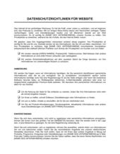 Datenschutzrichtlinien für Website