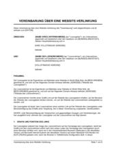 Vereinbarung über eine Website-Verlinkung