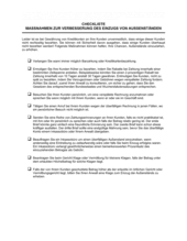 Checkliste Maßnahmen zur Verbesserung des Einzugs von Außenständen