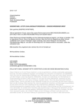 Letzte Zahlungsaufforderung Eingeschriebener Brief (2)