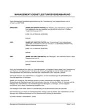 Management-Dienstleistungsvereinbarung