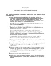 Checkliste Richtlinien zur vorzeitigen Entlassung