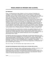 Regelungen zu Drogen und Alkohol