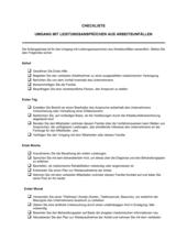 Checkliste Umgang mit Leistungsansprüchen aus Arbeitsunfällen