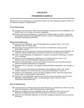 Checkliste Progressive Disziplin Dokumentation