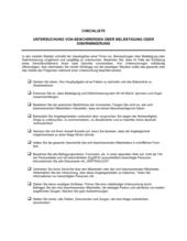 Checkliste Untersuchung von Beschwerden über Belästigung oder Diskriminierung