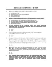 Sexuelle Belästigung IQ_-Test